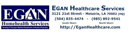 Egan Home Health Care Metairie Covington LaPlace New Orleans