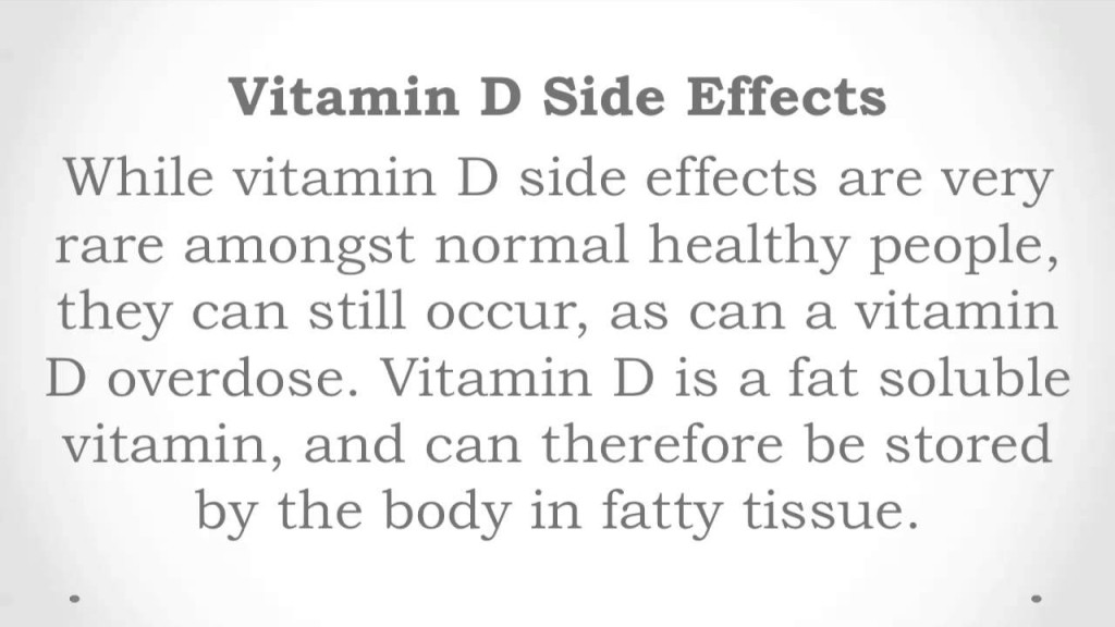 Vitamin D3 Side Effects / Toxicity